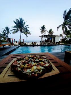 Fired Pizzas at Moon Bar, Mangata Villas