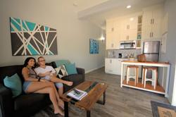 Inside beachfront villa