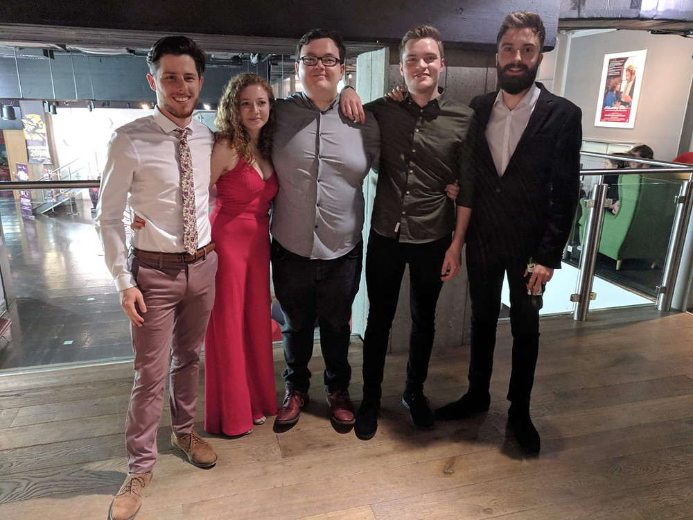 (From left to right) - Harry Whitehead, Holly Potter, James Bonner, Brooks Warner-James, Tiago Costa