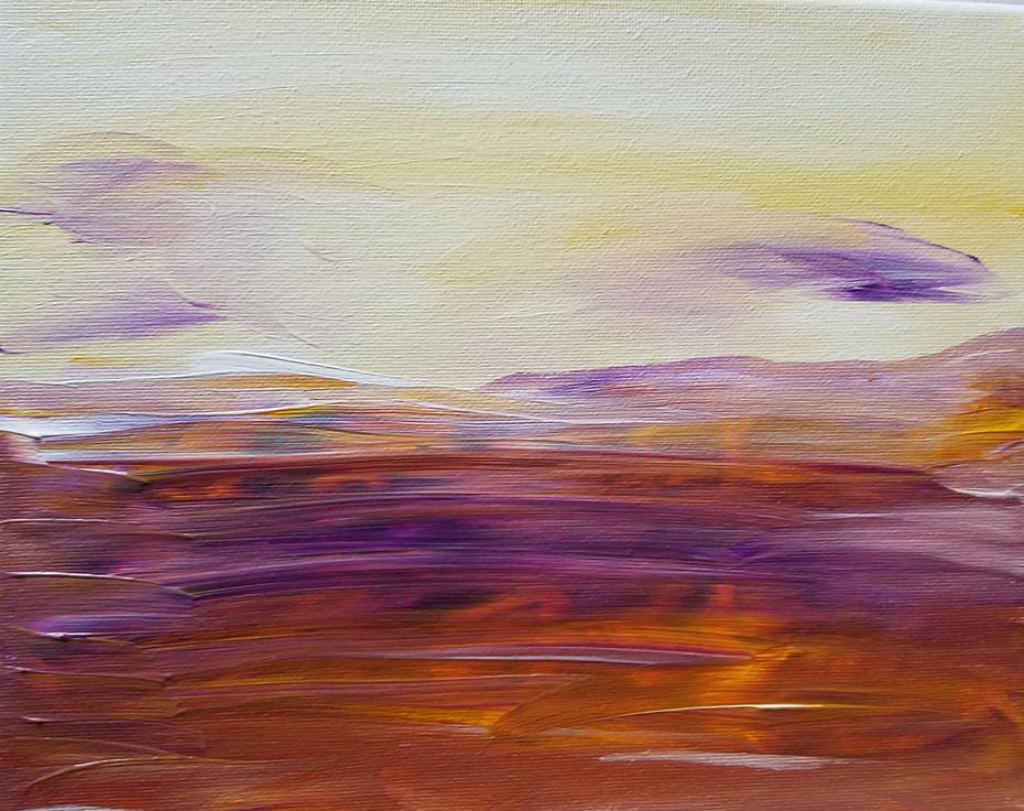 Yellow & Purple Landscape 3