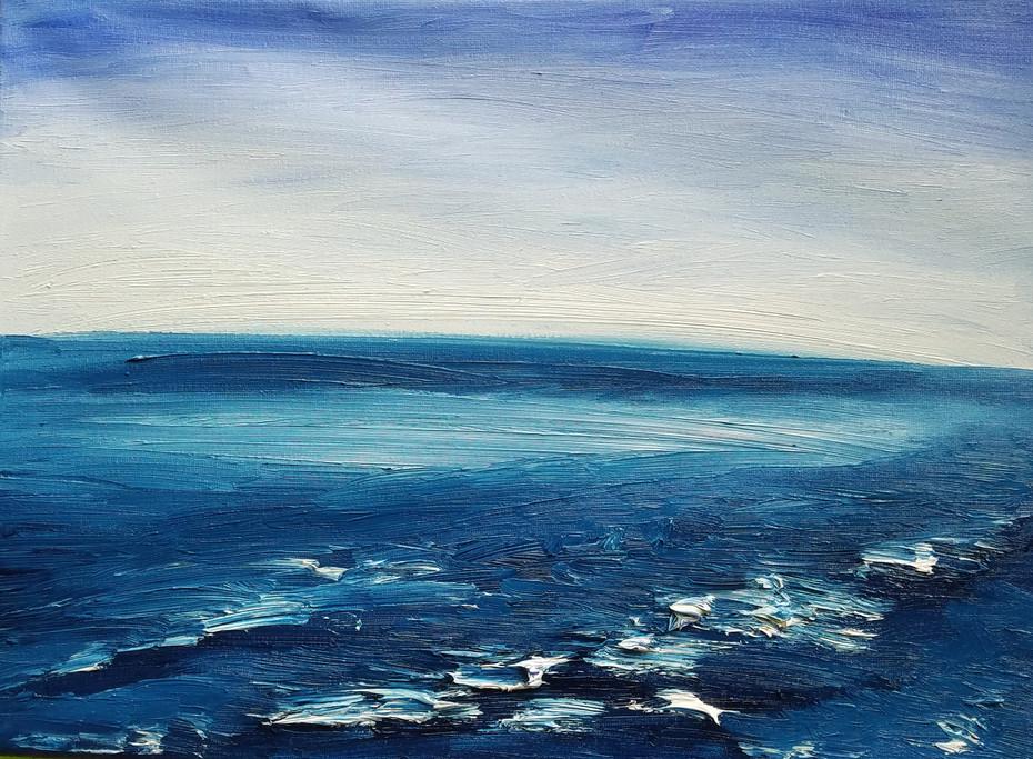 Ocean Landscape in Oil