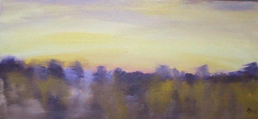 Yellow & Purple Landscape 2