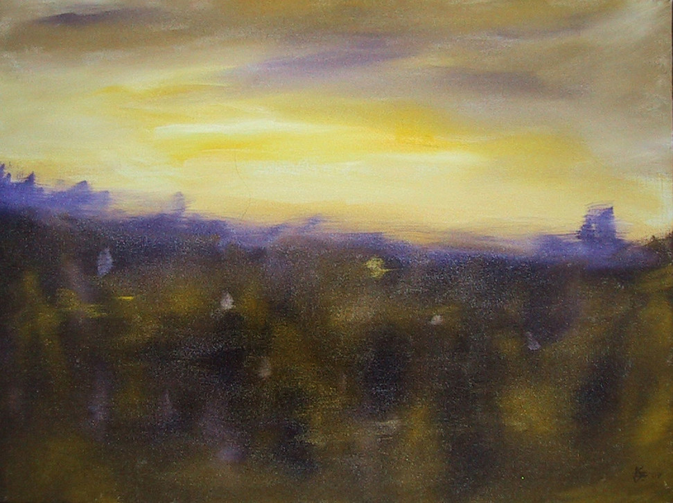 Yellow and Purple Landscape 1