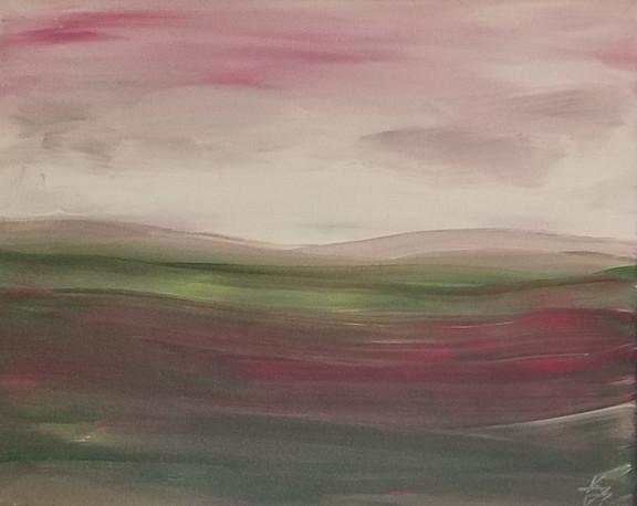 Green & Red Landscape 1