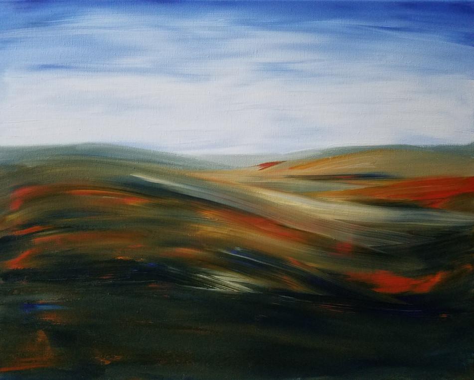 Orange & Blue Landscape 1