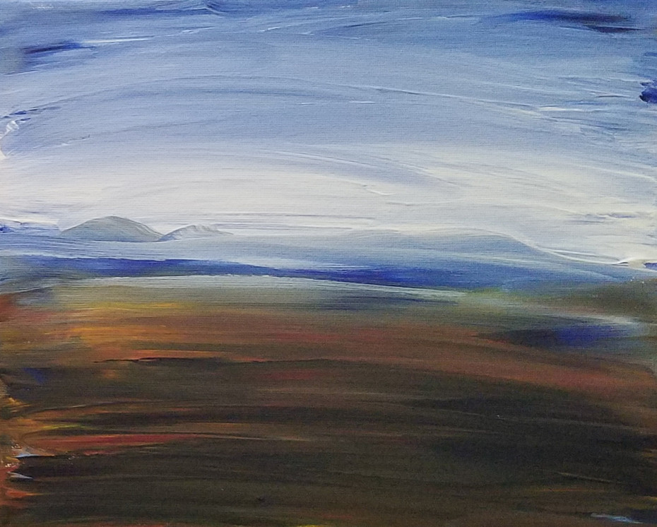 Blue & Orange landscape 6