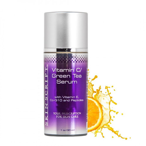 15% Vitamin C/Green Tea Serum with Vitamin C, Co-Q10, and Peptides