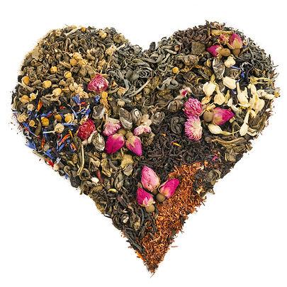 tea heart of different tea _ green, blac