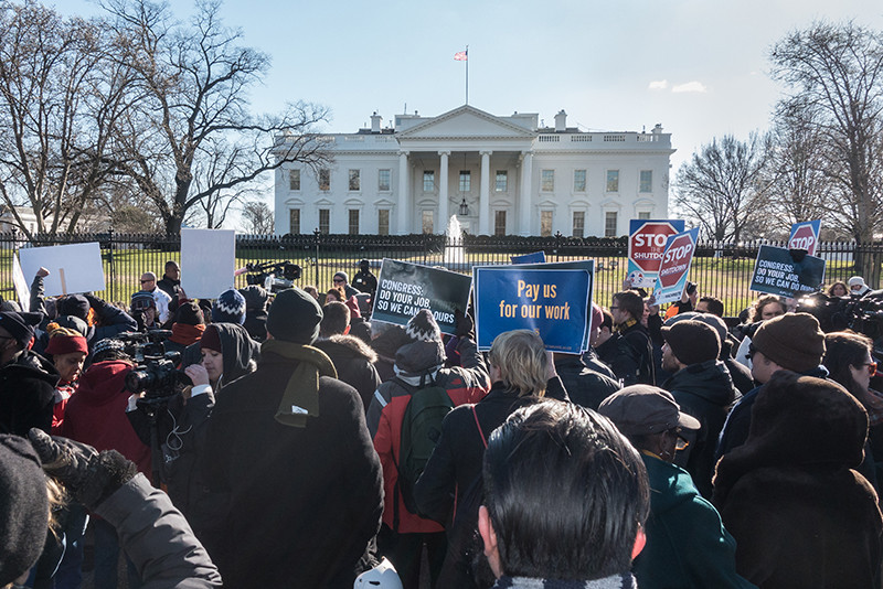 People Protesting In Front of The White House