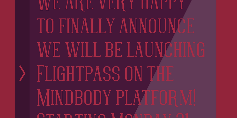 Flightpass launch on Mindbody