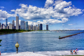 Chicago Skyline from the Shedd