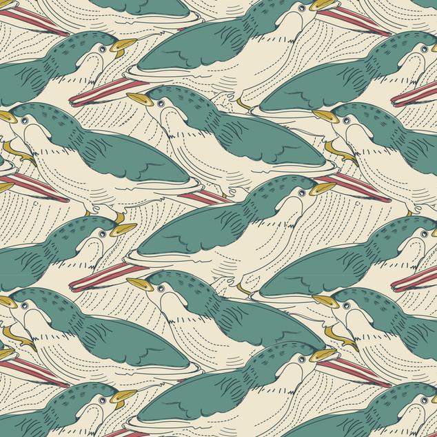 Multo Layered Bird Print