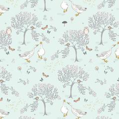 Geese Woodland