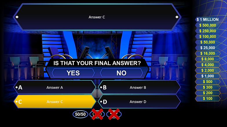who wants to be a millionaire? powerpoint template | rusnak creative, Powerpoint templates