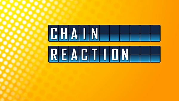 Make your own word chains easily with this macro-enabled PowerPoint template! Chain Reaction contains 2 types of round slides you can duplicate and modify, the normal round and the speed chain round. Customizing the word chain is as easy as: typing, a, list, with, commas. Running the game is simple and intuitive; it will not only keep track of score, but also let you know if your word chain contains any errors and how to fix it. For a fun game of related word pairs, try Chain Reaction today!