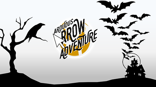 Ever thought you can play a platforming game in PowerPoint? Arduous Arrow Adventure lets you do just that, with your own Arrow cursor as the main player! Maneuver your mouse past spooky obstacles while staying on the path and collecting as many coins as you can along the way. This game has 15 levels which includes a boss level. Can you navigate through all 15 levels?