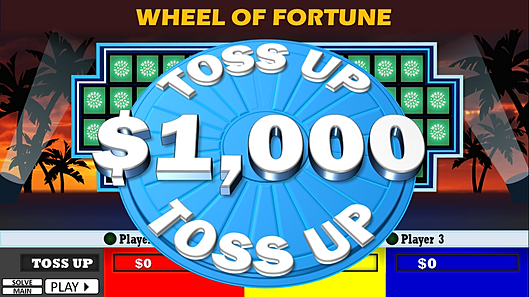 wheel of riches powerpoint template plays just like wheel of, Powerpoint