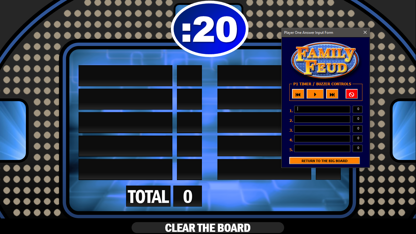 Family Feud Template Google Slides