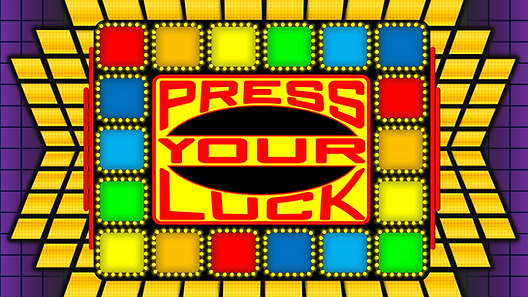 Re-live the excitement of the Big Board from the iconic 80's gameshow, Press Your Luck. This macro-enabled game template randomly selects each square with a press of the button, but watch out for the Whammy! Features include live score for 3 players, customized player names, and earned/passed spin counters. This template features the board and scoreboards ONLY; you will need to provide your own set of questions.