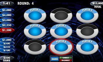 Jeopardy, Wheel of Fortune, Bingo, Family Feud, Millionaire