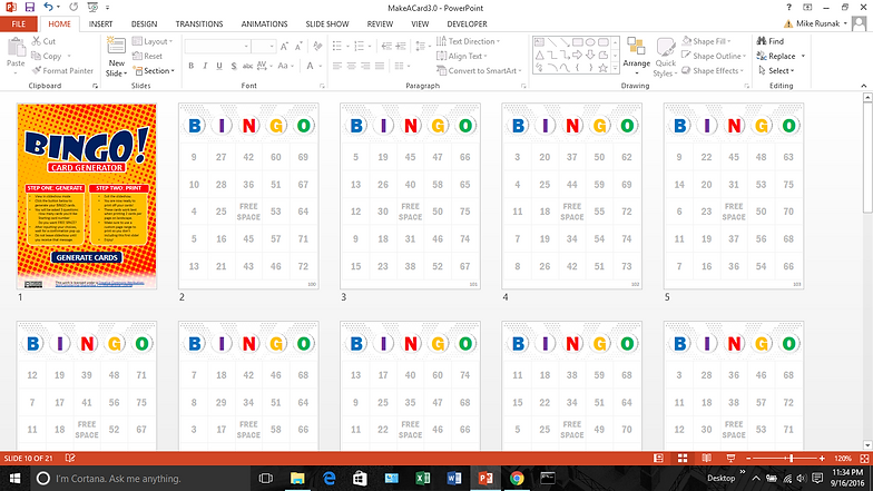 bingo powerpoint template