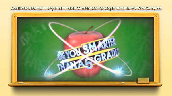 Are you Smarter Than a 5th Grader? Prove it, with this game! This macro-enabled template has a set 10 question format plus a final question which is worth 10 times the amount you have won answering the first 10 questions. Features include: real-time score keeping, 5 virtual students, randomized student's favorite and least favorite subjects, PEEK, COPY, & SAVE cheats,  sound effects, and more.