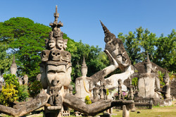 Xieng Khuan Vientiane Laos Asia