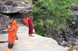 Popokvil Waterfall Kep Cambodia Asia