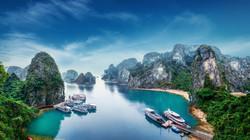 Tourist Junks Ha Long Bay, Vietnam