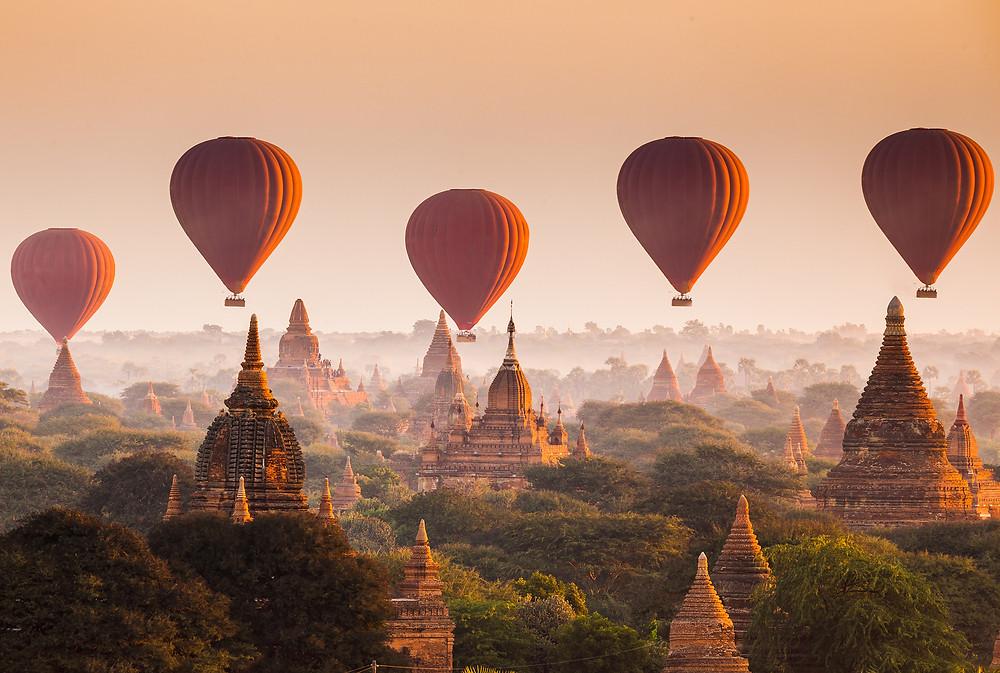 Ballons over Bagan   EHabla Luxury Travel Agency
