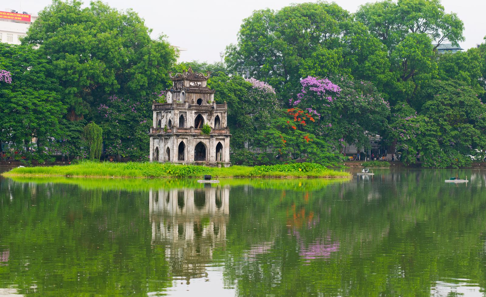 Huan Kiem Lake Hanoi Vietnam