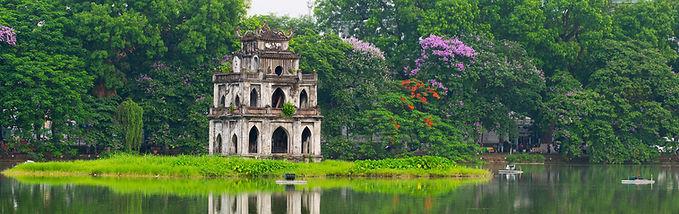 Ehabla Travel Turtle tower Hoan Kiem Lake Vietnam