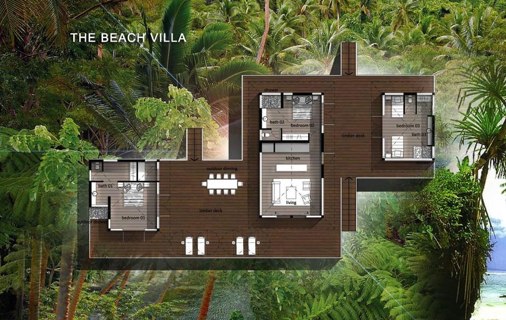 Savasi Beach House Floor Plan
