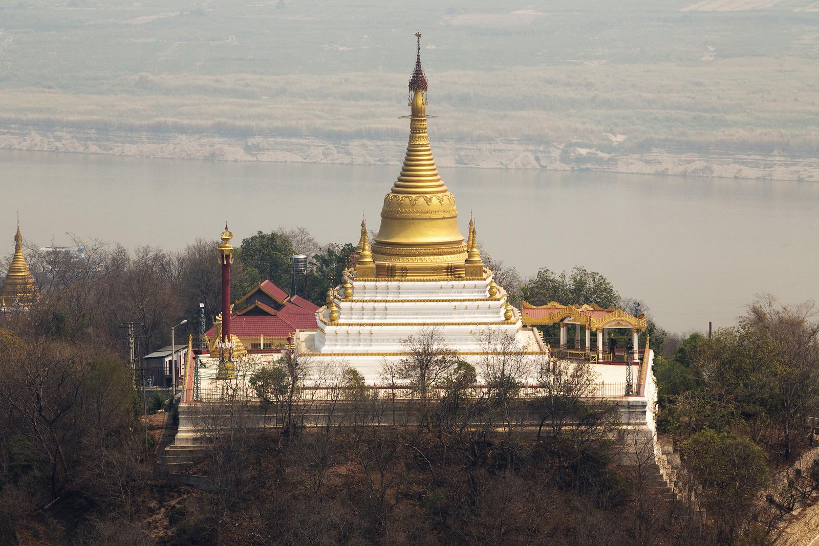 Golden Pagoda Sagaing Hill Myanmar
