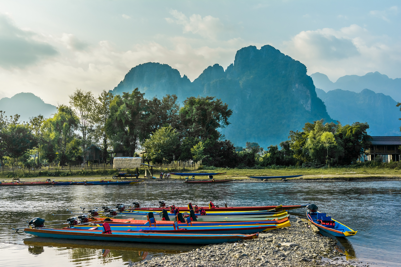 Nam Song River Vang Vieng Laos