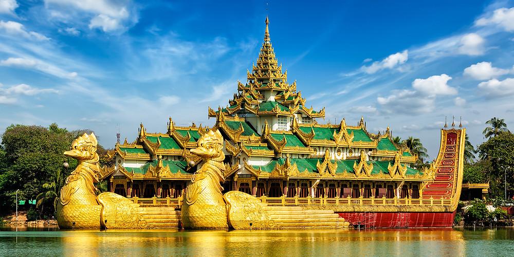 Panorama of Yangon, Myanmar