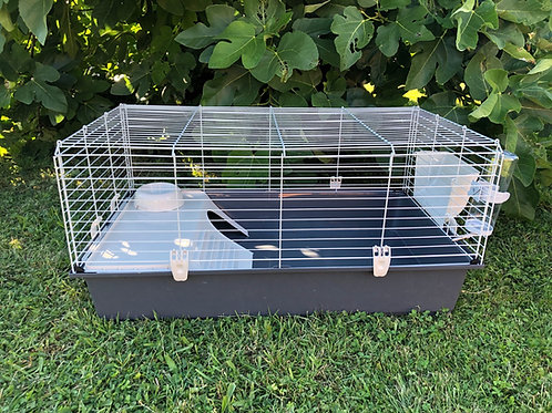 Cage pour lapin équipée