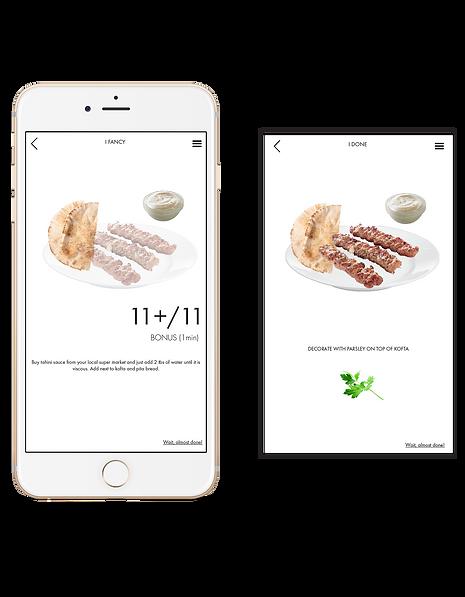 iArabFood App recipe plating