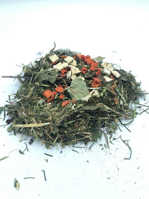 La tisane à croquer «carotte-potiron-feuille de bouleau»