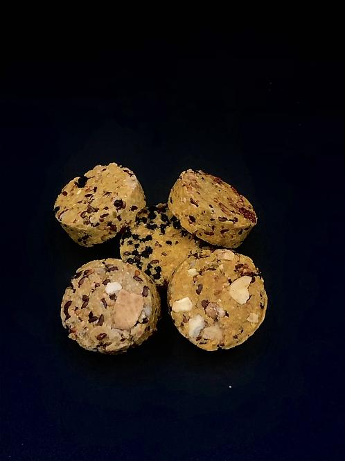 Lot de 6 biscuits à base de carottes «banane-fraise-myrtille»