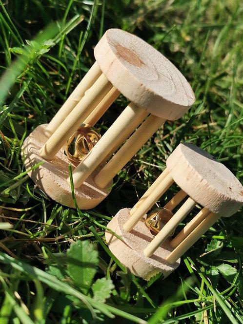 1 jouet en bois avec grelot fait main