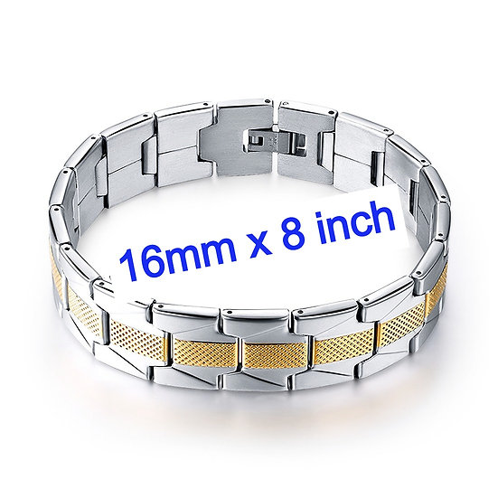 Stainless Steel Jewelry Bracelet 16mm by 8 Inch Strand
