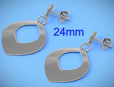24mm Silver Italian Earrings