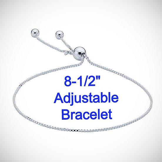 Sterling Silver Adjustable Bracelet