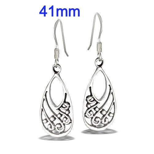 Sterling Silver Modern Dotted Dangle Earrings