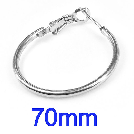 70mm Hoops with Stainless steel Earring hooks