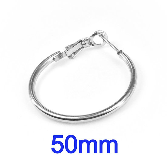50mm Hoops with Stainless steel Earring hooks