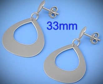Sterling Silver Italian Earrings