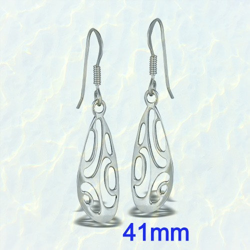 Sterling Silver Modern Abstract Dangle Earrings