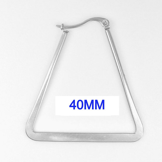 Stainless Steel 40mm Triangle Hoop Earrings
